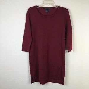Forever 21 Maroon Tunic/Sweater Dress Size Medium